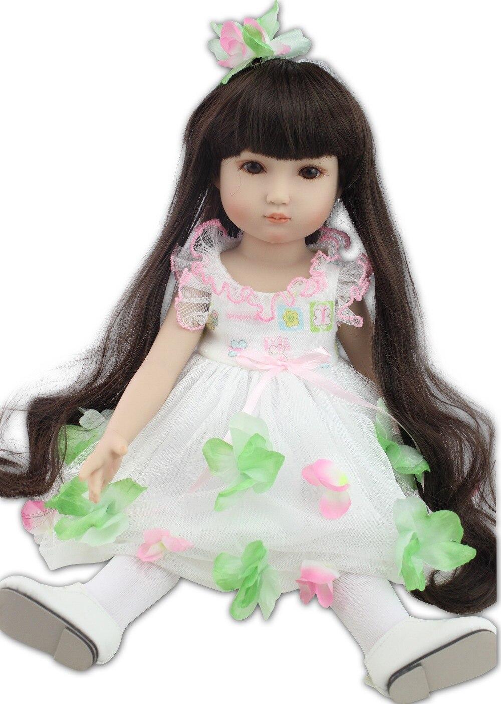 Nouveau design le plus populaire 18 pouces mode jouer poupée éducation jouet pour les filles cadeau d'anniversaire