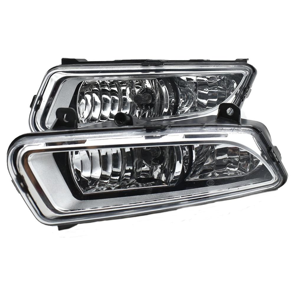 2 pièces halogène DRL Jour de Voyants ABS Couverture de Lampe de Brouillard de Voiture-Style Pour Volkswagen V W Polo 2011 2012 2013