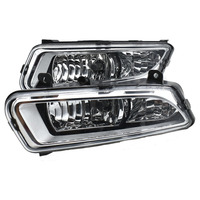2PCS halogen DRL Daytime Running Lights Daylight ABS Fog Lamp Cover Car Styling For Volkswagen V W Polo 2011 2012 2013