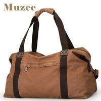 MUZEE New Canvas Bag Fashion Travel Bag for Men High Capacity HandBag for Short Trip Canvas Shouler Bag