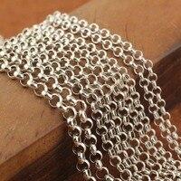 Hot Thái 925 Sterling Silver Trân Cut Chữ Thập Chain Lề Đường Nam Necklace Chain 3 mét/45 cm, 50 cm, 55 cm, 60 cm, 70 cm, 75 cm, 80 cm, 85 cm