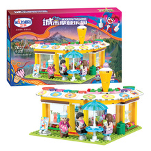 Winner 7031 City Modern Paradise Series Cold Drink Shop Building Blocks Educational Toys Bricks Give They The Best Holiday Gifts