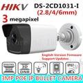 2017 HiKvis Lançado Novo 3.0 MP CMOS Bala Câmera de Rede DS-2CD1031-I substituir DS-2CD2035-I 30 m IR Da Câmera do CCTV DWDR IP67