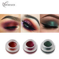 NICEFACE Diamond Shine Eyeshadow Cream Gel 15 Color Waterproof Long-wear Eye Liner Illuminating Eye Shadow Glow Pigment Cosmetic
