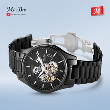 2019 new Mr.Bre mechanical men's watch stainless steel strap hollow waterproof sports fashion business top brand luxury watch new arrivals hollow out mechanical watch brand men s top quality bussiness fashion tonneau watch waterproof