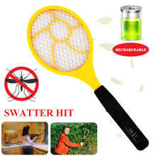Flyswatter Bug Zappers Electric Tennis Racket Handheld Red Blue Practical Trap Control Wasp Mosquito Swatter