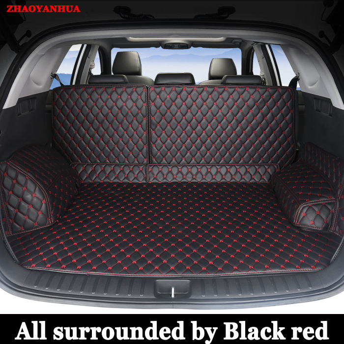 special no odor waterproof non slip car trunk mats for Hyundai Tucson car styling cargo liner