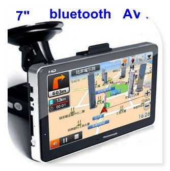 7 inch GPS Navigation HD touch screen Bluetooh+Av-In+FM Transmitter + 4GB memory freeshipping