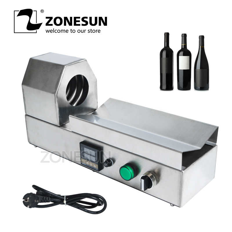 ZONESUN PVC boru küçültme makinesi şişe kapağı kol şarap şişe kapağı kapatma daralan aracı ekipmanları PVC PP POF filmi