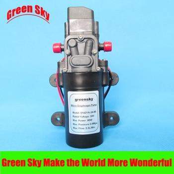 5.5L/Min 24V DC 80W high pressure self priming sprayer pump electric diaphragm pump 24v dc 6l min 80w self priming high pressure mini diaphragm pump