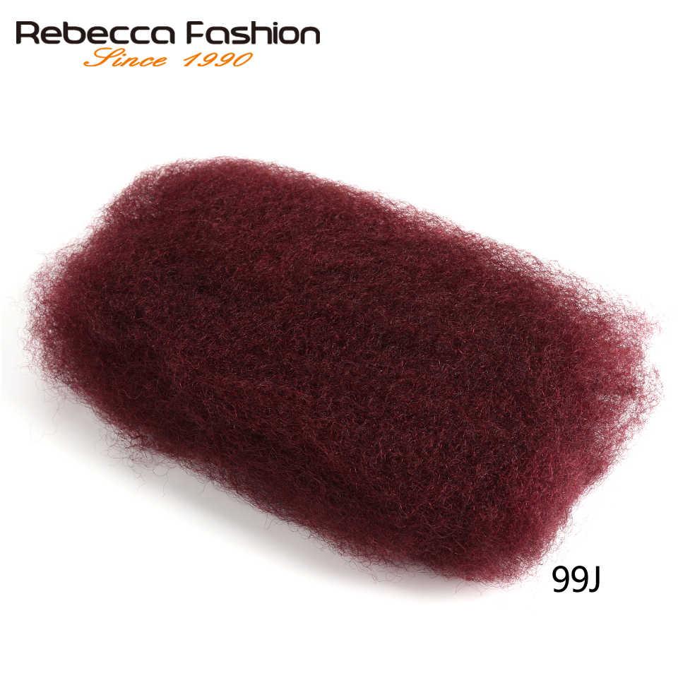Rebecca человеческих волос оптом никакое прикрепление бразильский афро кудрявый вьющиеся оптом для 1 Шт плетеный вязаный крючком косы легкие как пушинка
