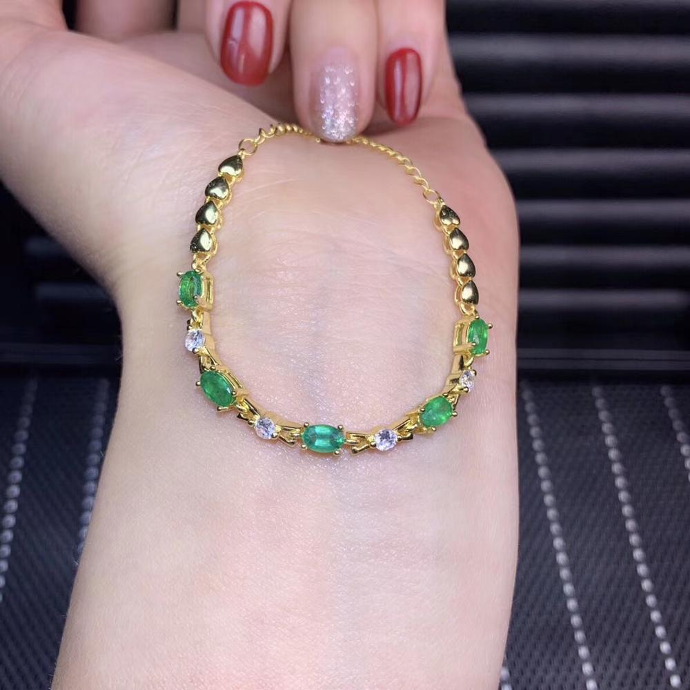 narrow style green emerald gemstone bracelet for womennarrow style green emerald gemstone bracelet for women