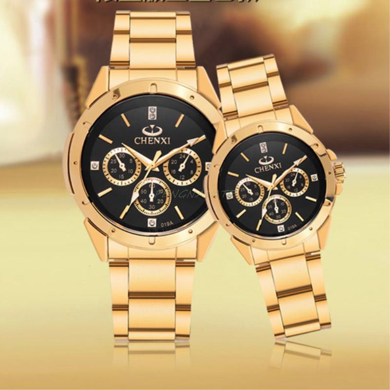 Reloj dorado Nuevo Reloj de oro para hombres Relojes de cuarzo de - Relojes para hombres - foto 4