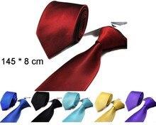 pure necktie strips men s tie shirt accessories 8 cm 14 colors 10 pcs lot mixed