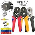 HSC8 6-6 обжимные плоскогубцы 0 25-6 мм2 23-10AWG для трубчатых терминалов с шестигранным давлением мини Тип круглый нос европейские плоскогубцы брен...