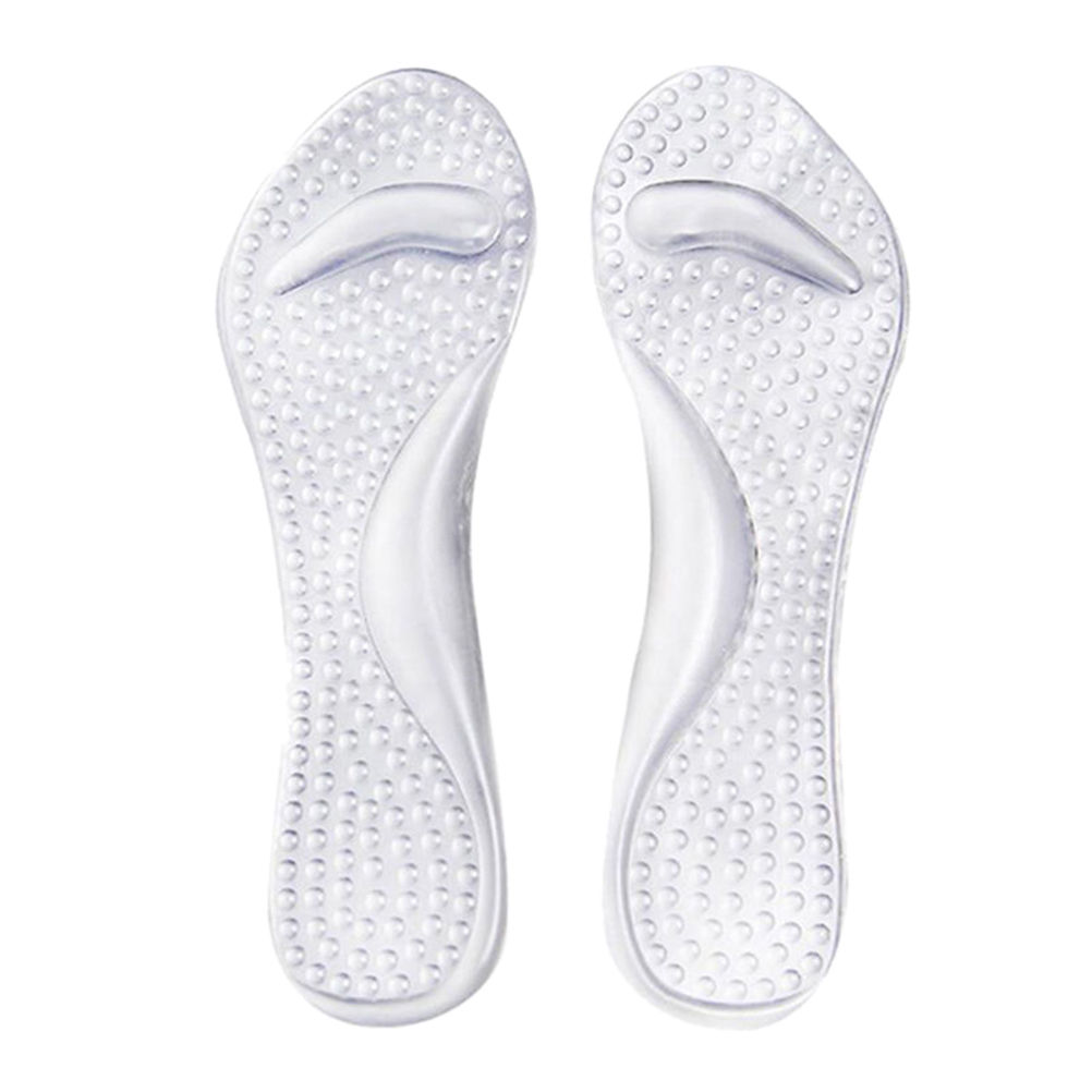1 Pair  Silicone Insoles High Heels  Foot Cushion Arch Support Shoes Pads Transparent Shoes Pads