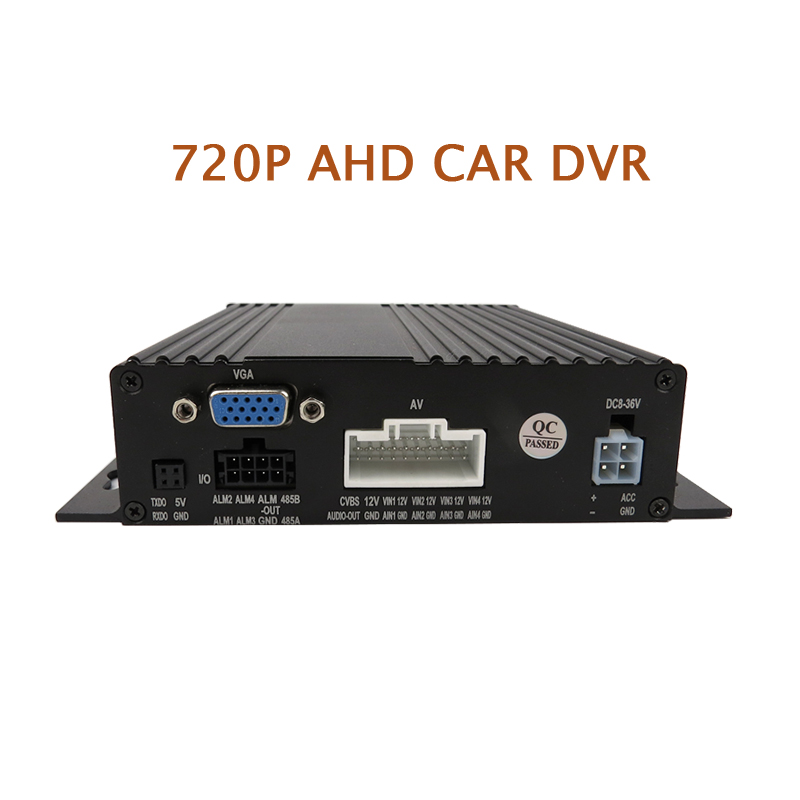 Free Shipping New 4 Channel HD 720P AHD Real-time Recording 128GB SD Car Mobile DVR Video Recorder For Heavy Bus Taxi Truck Van