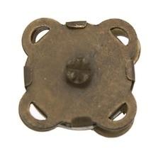 20Pcs DIY Vintage Magnetic Clasps Plum Blossom Shape Bronze Tone Purse Handbag Closure 11x11mm