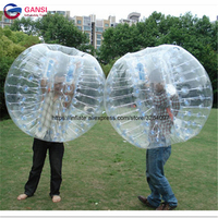 1.5m diameter inflatable bubble football for adult 1.0mm PVC zorb ball for playground durable inflatable human hamster ball