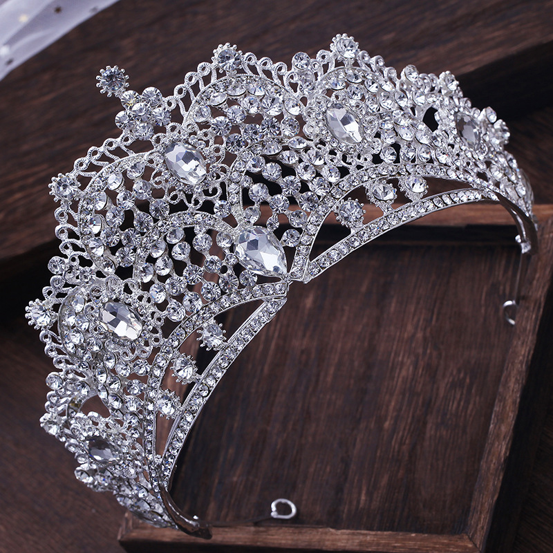 Luxurious Wedding Queen Princess Large Rhinestone Crowns Tiaras Pageant Prom Bridal Crystal Hair Accessories Hairband Headpieces