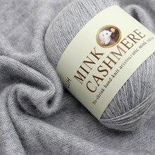 Hilo de lana de visón de la mejor calidad Hilos de cachemira suave de  Mongolia hilo c4422738fc3