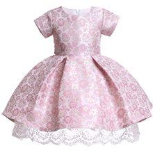 87146af621 Crianças Vestidos de verão Para Meninas Miúdos Bordados Rendas Vestido de  Princesa Para A Menina 2 3 4 5 6 7 8 9 10 anos da Fest.
