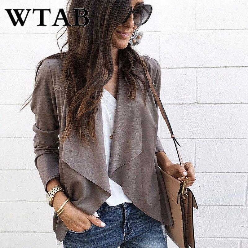 WTAB woollen coat women 2018 anomaly autumn winter jacket women long sleeve fashion Outerwear female coat veste femme clothes