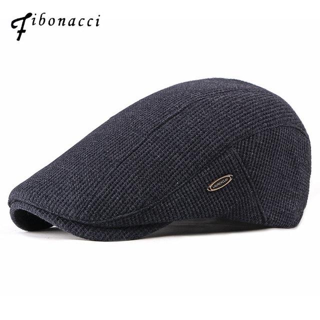 Fibonacci 2018 de los hombres de la nueva moda vendedor tapas de más de  terciopelo boina sombreros para hombres Otoño Invierno de sombrero de papá 6ac58ff82ee