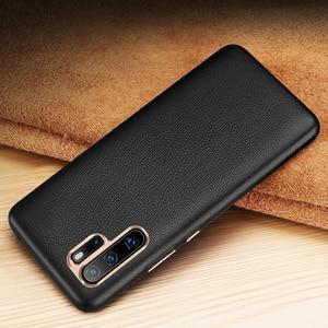Image 2 - יוקרה עסקים אמיתי עור מקרה עבור Huawei P30 פרו Ultra Slim רך TPU פגוש אנטי שריטה החלקה עמיד עמיד הלם פגז