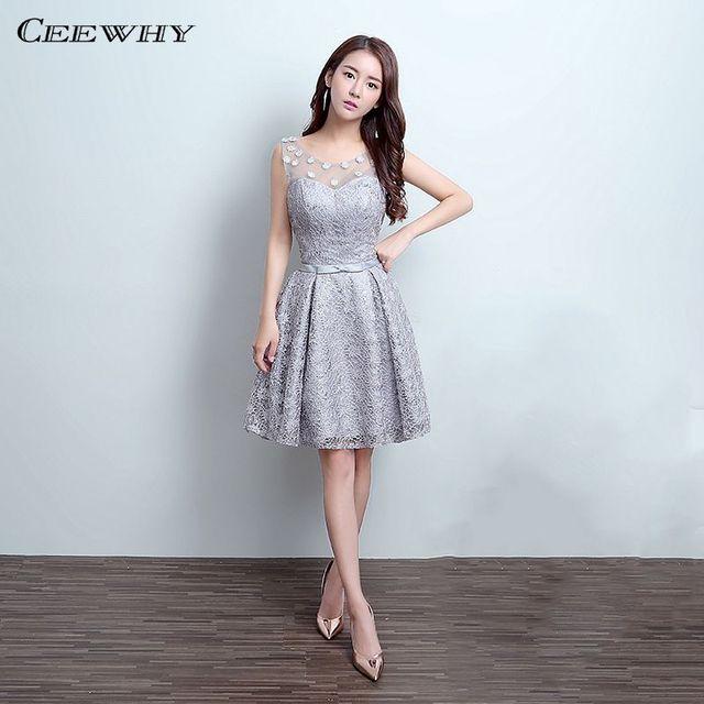 Short Lace Formal Dresses Cheap