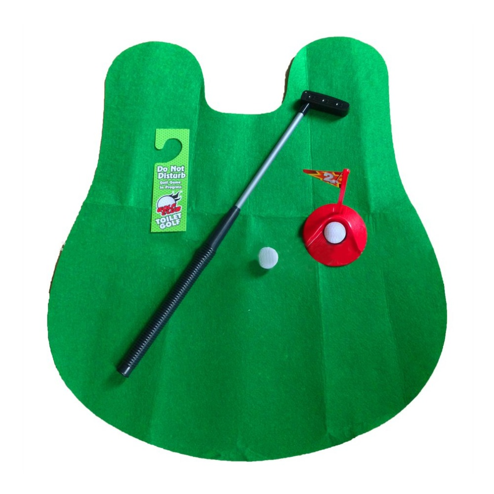 Peachy Us 8 18 25 Off 1 Set Mini Golf Package Mat Toilet Entertainment Bathroom Decoration Toilet Seat Mats Golf Tees Novelty Gag Gift Toy In Golf Training Evergreenethics Interior Chair Design Evergreenethicsorg
