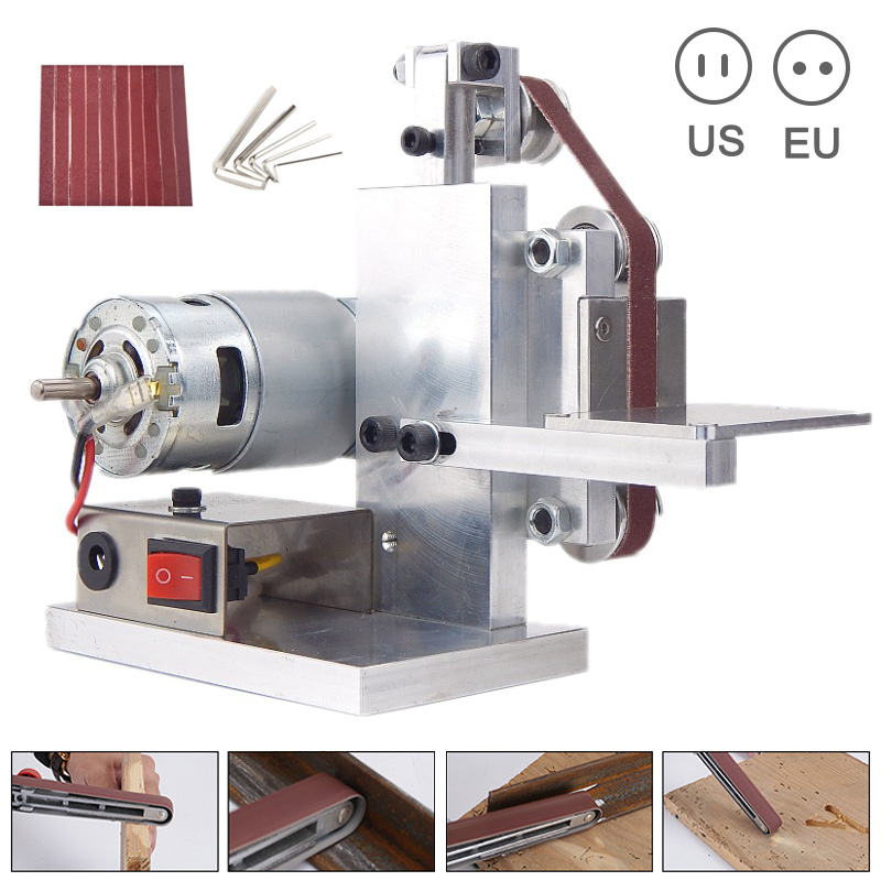 Newest DIY Mini Belt Sander Cutter Apex Edge Sharpener Polishing Grinding Machine Tool