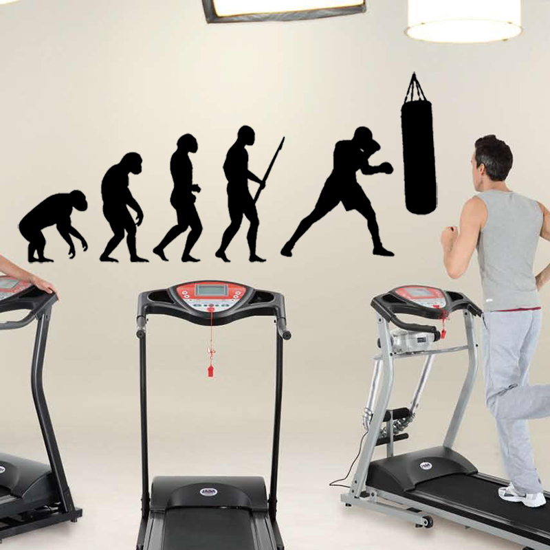 Высокое качество человеческих evolutionr стикер тренажерный зал бокса Спорт наклейки для комнаты Мальчика Творческий росписи дома этикета