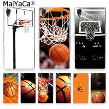 MaiYaCa de baloncesto y Baloncesto Caja oscuro hecho de la caja del teléfono de la moda para Sony Z2 Z3 Z4 Z5 Z5c para LG g3 G4 G5 para MOTO G