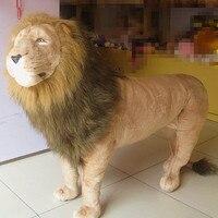 Супер огромный плюшевый Лев Игрушка Большой моделирования Лев Кукла Король Лев игрушка подарок на день рождения Лев Кукла около 110 х 80 см 2409