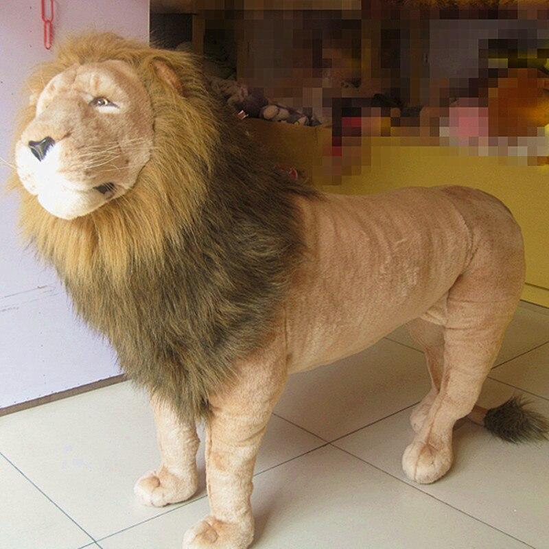 Super énorme peluche lion jouet grande simulation lion poupée roi lion jouet anniversaire cadeau lion poupée environ 110X80 cm 2409