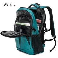 Winmax 브랜드 노트북 배낭 남자 여행 가방 2019 다기능 배낭 방수 녹색 파란색 야외 배낭 틴 에이저