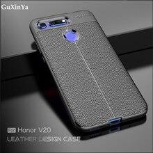 Cover Huawei honor View 20 Case Luxury Leather ShockProof TPU Protective Case For Huawei honor View 20 Fundas Huawei Honor V20 защитное стекло mobius huawei honor view 10 синий
