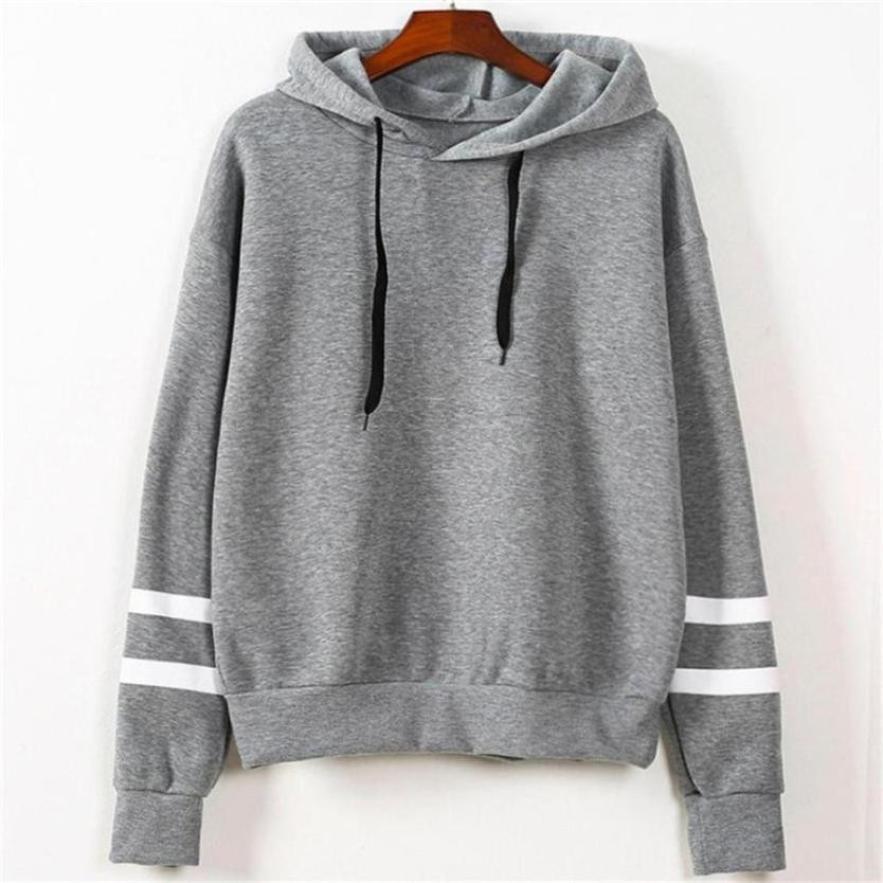 Women's Fashion Sweatshirt Womens Long Sleeve Hoodie Sweatshirt Jumper  Hooded Pullover Tops ping augu11|Hoodies & Sweatshirts| - AliExpress