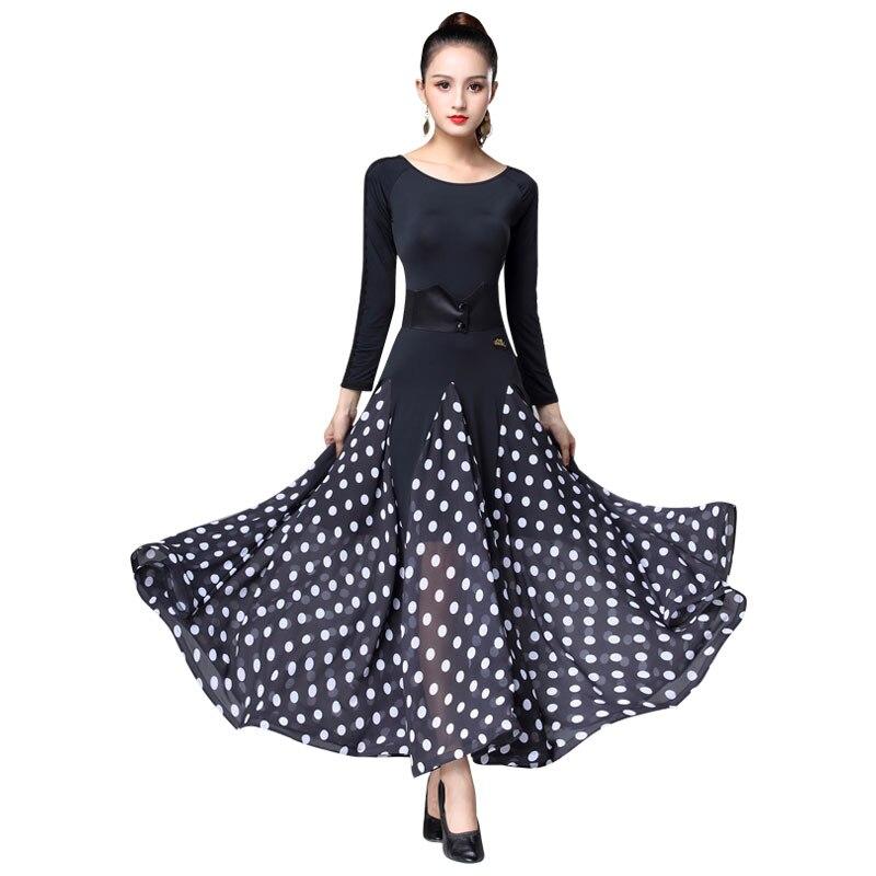 Luo Современная юбка для танцев новое платье для вальса, для социальных танцев, большая юбка, юбка для соревнований, Национальный Стандартный танцевальный костюм