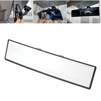 Wide Angle 300mm Car Rear Mirror Rearview Mirror Auto Wide Convex Curve Interior Clip Rear View