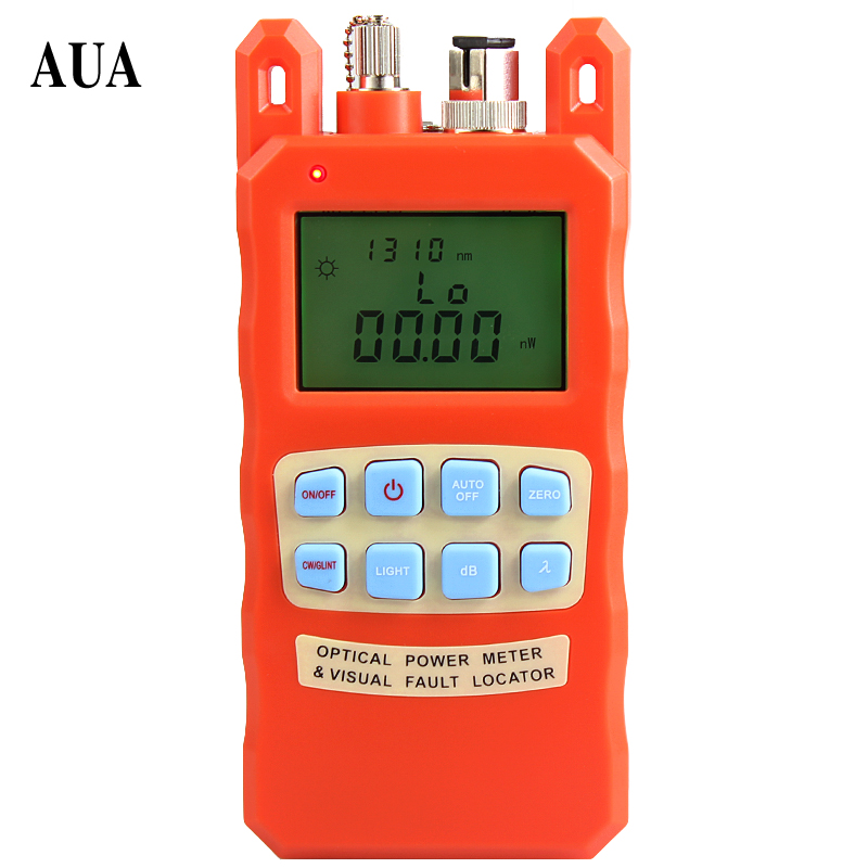 orange Optical power meter visual fault locator  2in1 machine 10-20KM red light source optical fiber tester combination AUA-70ACorange Optical power meter visual fault locator  2in1 machine 10-20KM red light source optical fiber tester combination AUA-70AC