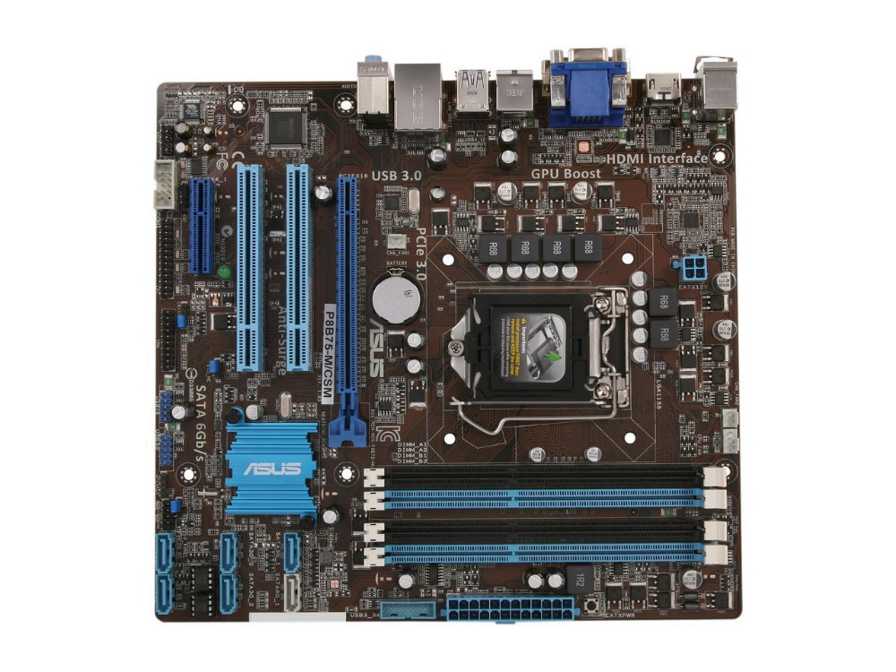 ASUS P8B75-M/CSM original placa madre DDR3 LGA 1155 P8B75-M 22NM CPU 32 GB VGA HDMI USB3.0 B75 placa base de escritorio envío Gratis