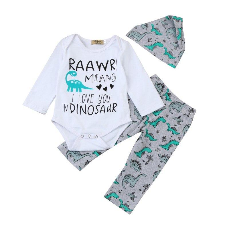 Симпатичные Письмо печати с длинными рукавами комбинезон новорожденных Одежда для детей; малышей; девочек Обувь для мальчиков Комплекты хл...