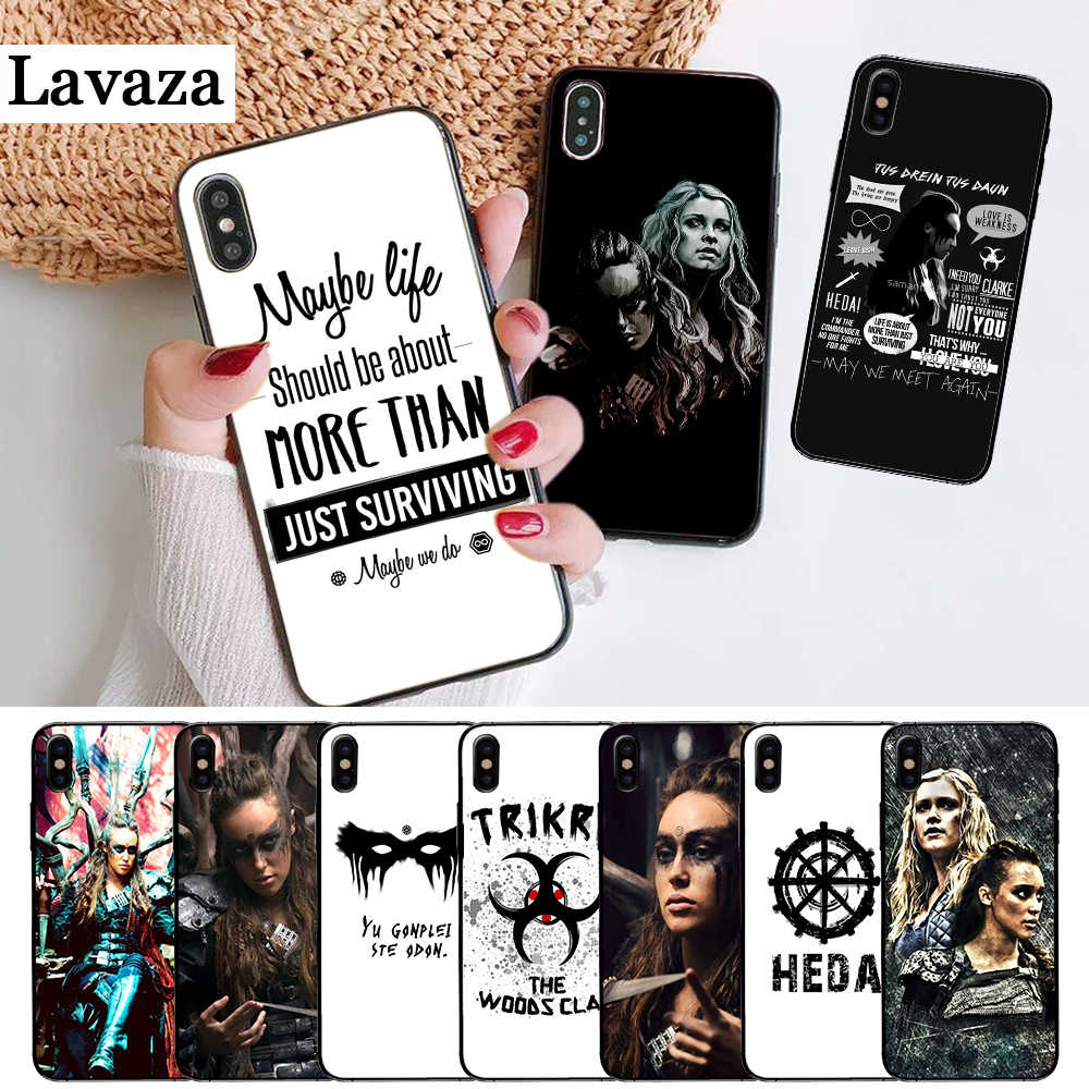 Heda Lexa Il 100 TV Show Coque Custodia In Silicone per iPhone 5 5S 6 6S Plus 7 8 11 Pro X XS Max XR