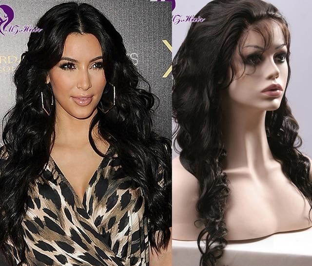 New Celebrity Hairstyle Brazilian Human Hair Kim Kardashian Lace Front Wigs  Brazilian Body Wave Full Lace Wigs Human Hair ee9935b8ab0f