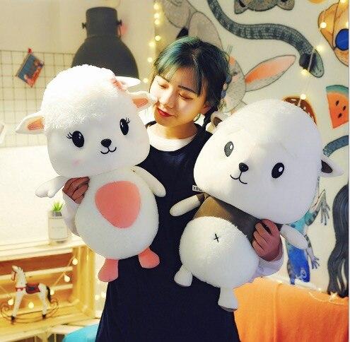 WYZHY nouveau créatif mignon doux petit Meng mouton poupée en peluche jouet canapé chambre décoration envoyer des amis enfants cadeaux 50 cm