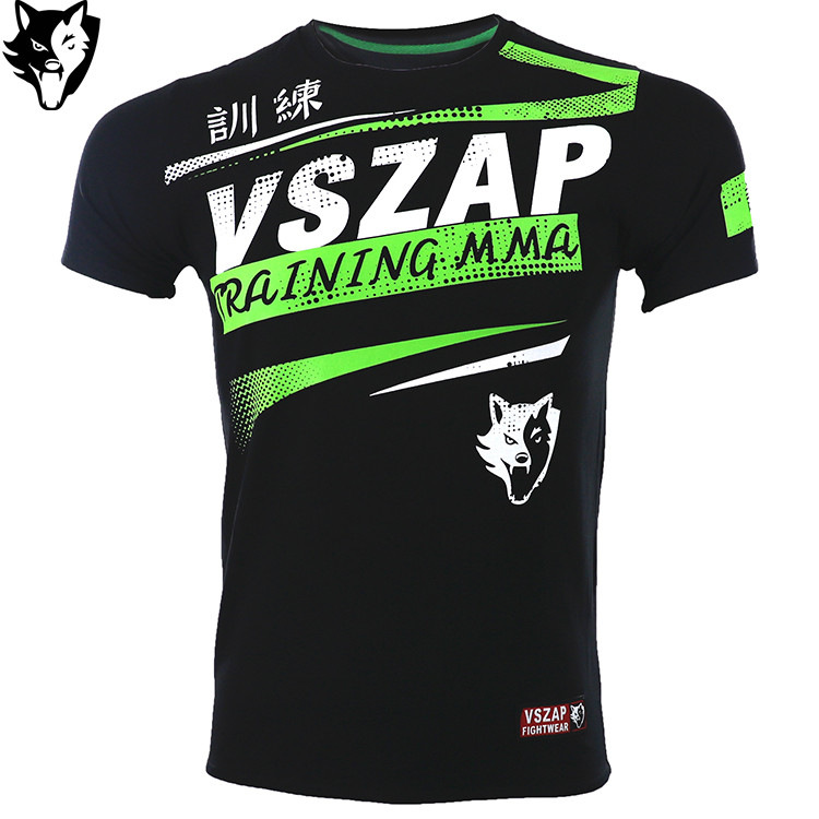 VSZAP Boxing Shirt Gym Sport Shirt Fighting Jiu Jitsu Martial Arts Fitness Training MMA Muay Thai Jerseys Men Homme