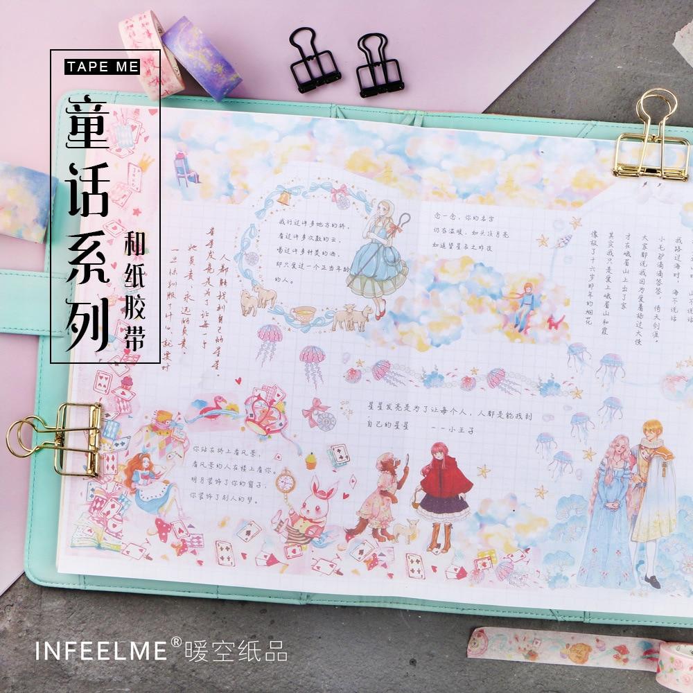 Alice Mermaid Little Castle Dream Fairy Tales Infeelme Washi Tape Adhesive Tape DIY Scrapbooking Sticker Label Masking Tape