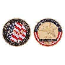 Американские ВВС F-35 истребители памятные монеты для военных Funs